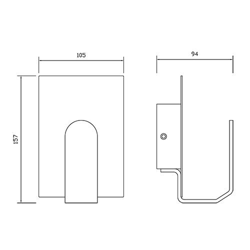 indirect led wall lighting fixture 3 5w 4200k white. Black Bedroom Furniture Sets. Home Design Ideas